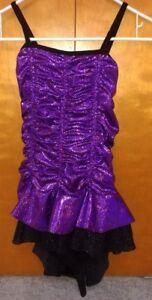 Dance Recital Ice skating Fancy Dress Foil Sequins Sparkling CXL/AS-M
