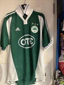 2002/03 Panathinaikos Greece Adidas Size L Football Shirt VGC OTE CLIMALITE