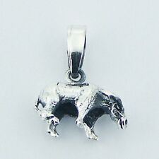 sterling silver size 13mm x 16mm Silver pendant Chinese Zodiac Ox 925