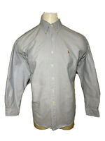 Polo Ralph Lauren Large L Blue BLAKE Relaxed-Fit Men's Casual Button-Down Shirt