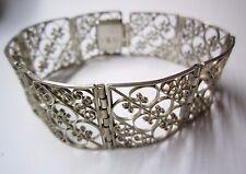 Altes Armband in Silber 835 filigran mit Kastenschloss
