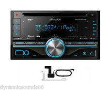 KENWOOD DPX406DAB CAR/VAN CD iPod 2-Din DAB Bluetooth Stereo + Aerial - REFURB