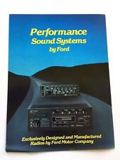 1984 Ford Sound System Audio Stereo Original Car Sales Brochure Folder