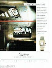 PUBLICITE ADVERTISING 116  1989  Cartier   la montre Santos