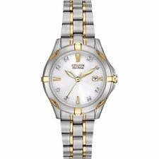 Citizen Eco-Drive Women's EW1934-59A Diamond Markers Two Tone Watch