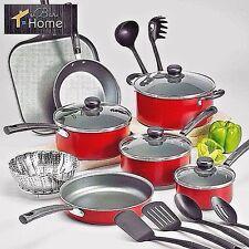 Tramontina 18 Piece Nonstick Pots Pans Cookware Set Kitchen Cooking Free Ship
