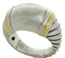 DAVID YURMAN 18K GOLD & STERLING CABLE RING SZ 5-1/2