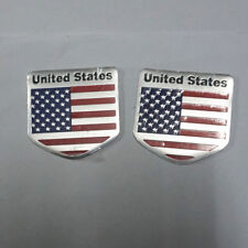 2PCS Small USA Metal Emblem Badge Sticker Decal Car America United States 3D suv