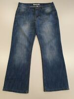 GG301 MENS BENCH FADED BLUE BOOTCUT DENIM JEANS UK S W30 L30