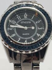 Chicos Women's Blue Glass Decorative Bezel 39mm Watch sr626sw