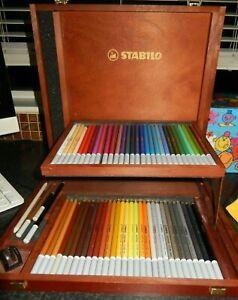 STABILO CARBOTHELLO CHALK-PASTEL PENCILS BOX SET OF 60 PLUS 3 EXTRA