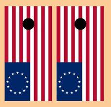 Betsy Ross American Flag Cornhole Board Wraps Free Laminate 3394