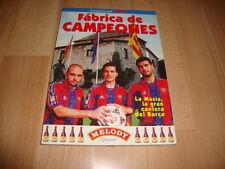 FABRICA DE CAMPEONES LA MASIA LA GRAN CANTERA DEL BARÇA LIBRO DE F.C. BARCELONA