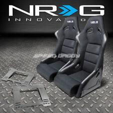 NRG FIBERGLASS BUCKET RACING SEATS+T304 STEEL MOUNT BRACKET FOR MK3 VW GOLF/GTI(Fits: Golf)