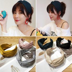 Female Wide Headband Twist Knot Cross Hairband Alice Hair Hoop Band Accessories