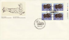 CANADA #1174 59¢ MUSK OX UR INSCRIPTION BLOCK FIRST DAY COVER