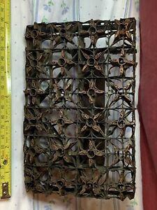 "Antique Copper & Metal ""Textile Printing Block"" Floral Wallpaper"