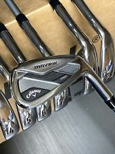 Callaway Mavrik Pro irons 4-pw. Project X Catalyst 65 5.5 flex, 1* flat gold