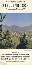 Visitors guide to Stellenbosch Südafrika South Africa brochure um 1970
