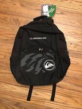 New QUICKSILVER Black Backpack Q-Tec Coating Multiple Compartments Ergonomic