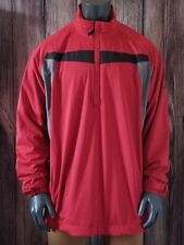 3dcfae14bd2d MENS NIKE STORM FIT GOLF JACKET SZ 2XL XXL PULLOVER WINDBREAKER  RED GRAY BLACK