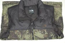 the north face mens nuptse down vest 700 fill pockets black ink green large