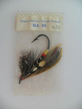 HARDY Black Doctor 4/0 Fully Dressed Vintage Salmon Fly UNOPENED ORIGINAL PACKET