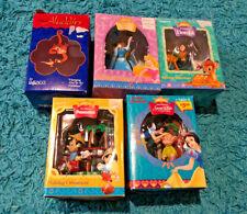 Enesco Disney Christmas Ornaments ~ Snow White, Sleeping Beauty & More ~ Lot 5
