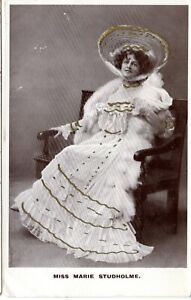 Antique UK Photo postcard Miss Marie Studholme theatre actress 1906