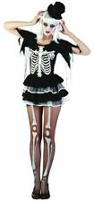 Ladies Skeleton Fancy Dress Costume Womens Halloween Adult Size 8 10 12