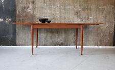 60er TEAK ESSTISCH AUSZIEHBAR DANISH DESIGN 60s DINING TABLE MID-CENTURY