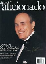 [ RUDY GIULIANI ]  RARE SIGNED [CIGAR AFICIONADO MAGAZINE] DEC 2001 BRAND NEW