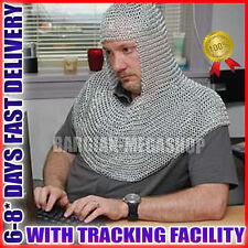 Chain mail Coif Round-neck Chain-mail hood
