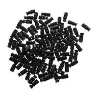 100pcs Black Cylinder Barrel Cordlock Cord Lock Toggles Stopper Z8H2