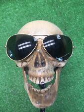 True Vintage B&L Ray Ban Aviator Pilot Shooter Gold Framed Sunglasses