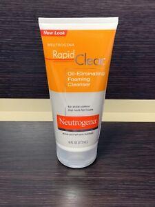 Neutrogena Rapid Clear Oil Eliminating Foaming Cleanser Face Wash Acne Unisex N