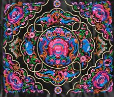 Colorful Chinese tribal miao hmong machinemade embroidery Brilliant Garden