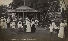 Kempsford near Fairford & Lechlade. Flower Show 1913. Travelling Fair Roundabout
