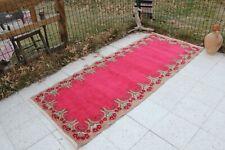 "Vintage Handmade Turkish Runner Rug 87""x37"", 222x94cm"