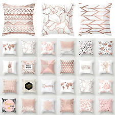 Rose Gold Pink Throw Pillow Case Cushion Cover Pillowcase Home Sofa Bed Decor Us