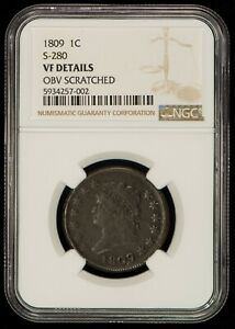 1809 1c Classic Head Large Cent - S-280 - R-2 - NGC VF Details - SKU-Z1286