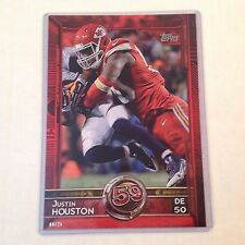 #376 Justin Houston Georgia / Chiefs  #ed/25 made Red Version 2015 Topps 5x7
