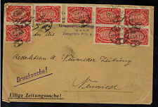 1923 Koln Germany Inflation cover to Neuwieder Zeitung 800000 Rm