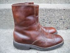 Vintage Leather Men's Work Wool Lined Insulated Beatle Riding Mod Hippie Boots 9