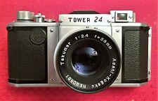 COLLECTOR'S ASAHI ASAHIFLEX TOWER 24 BODY w/f 2.4 58MM TAKUMAR LENS - MINT