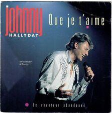 JOHNNY HALLYDAY Que je t'aime 1988 SP Live Bercy Imprimerie Montreuil Offset