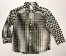 JANIE AND JACK Tartan Terrier Plaid Button Up Shirt Size 3 3T
