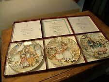 decorative commemorative plates x 3