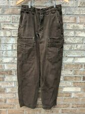 Duluth Trading Co. Mens 30x32 Cargo Brown Heavy Duty Rugged Work CarpenterPants