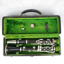 Antique Vintage Couesnon Stencil Boehm System French A Clarinet HP W/ Case